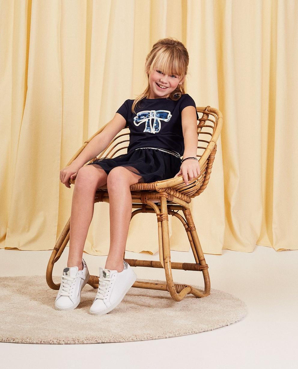 T-Shirt mit Pailletten-Schleife - aus Baumwolle - Milla Star